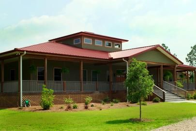 One of my favorite designs of a morton building wrap for Barn style house plans with wrap around porch