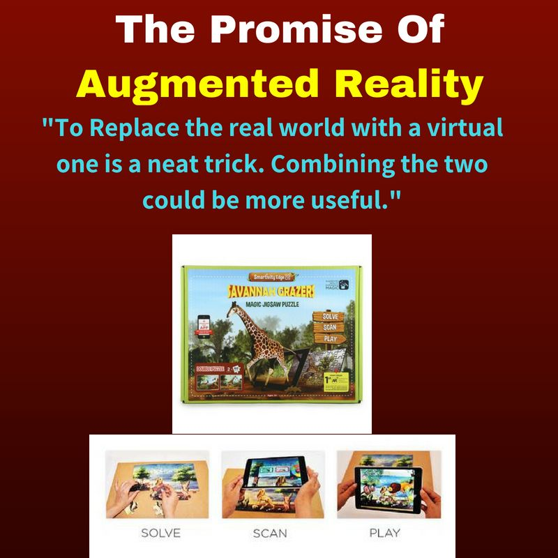 The promise of Augmented Reality. To replace the real world with a virtual one is a neat trick ...