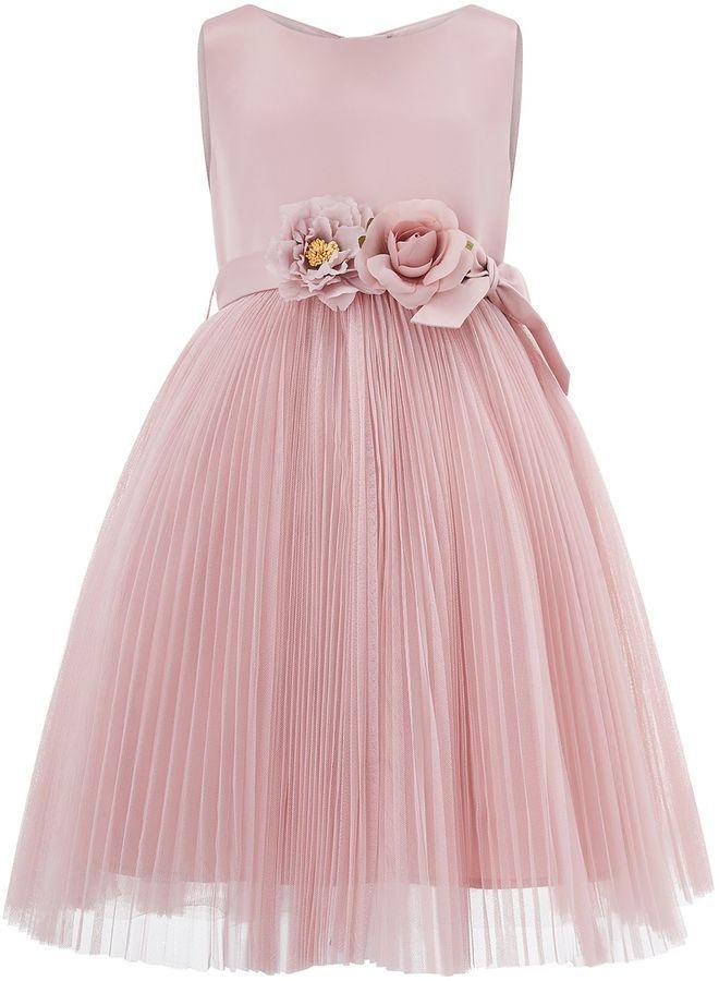 b11d73abf Monsoon Girls Marilyn Pleat Tulle Dress