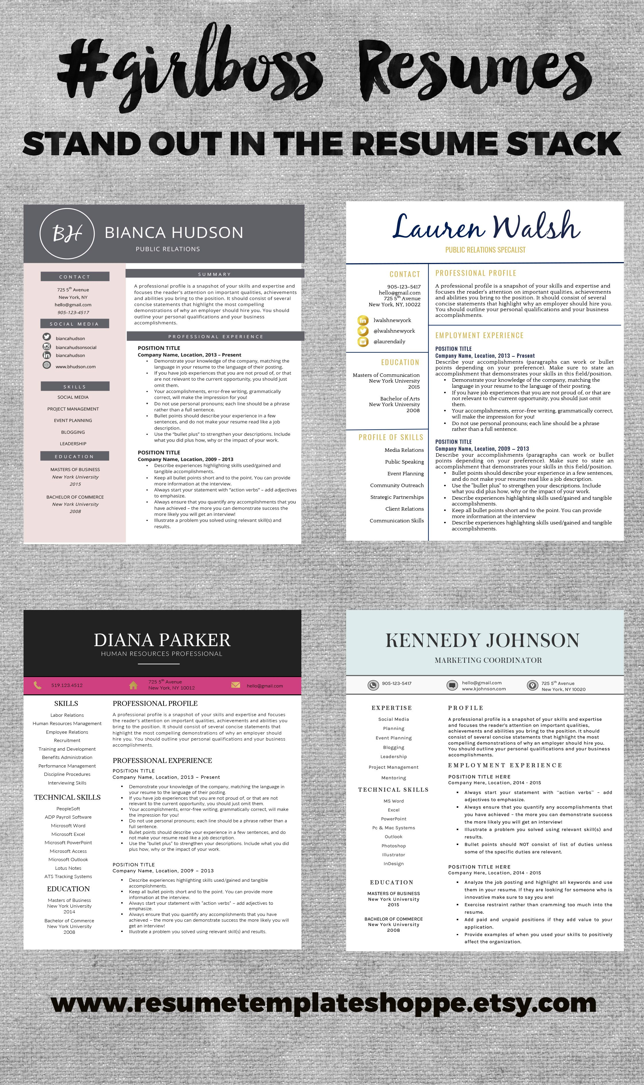 How To Make Your Resume Stand Out Custom Make Your Resume Stand Out With These Gorgeous Profe…  Resume
