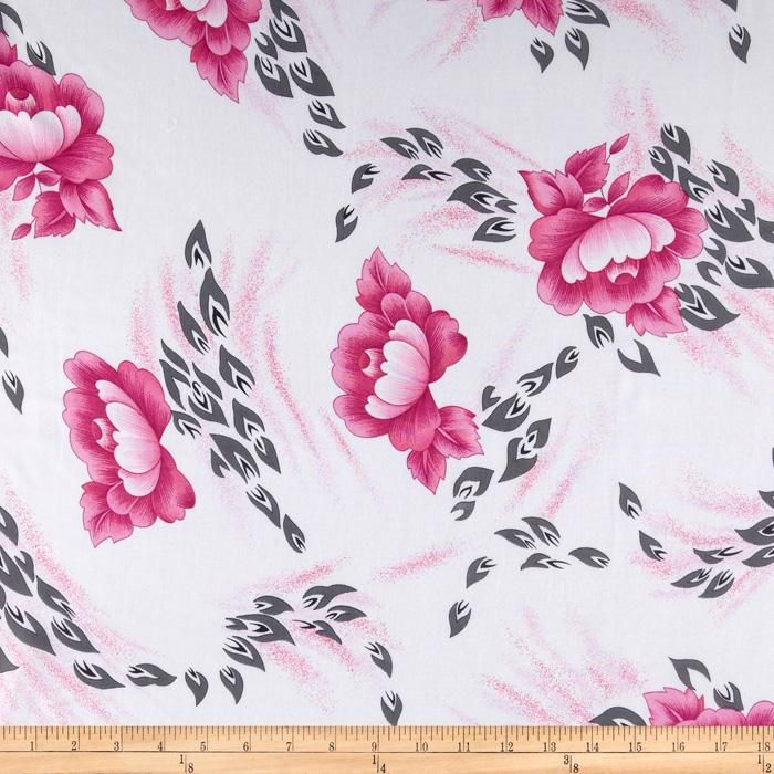 Angeline Chiffon Floral Blossom Hot Pink/White from @fabricdotcom  This elegant and luxurious sheer chiffon fabric has an ultra soft hand and a beautiful flowing drape that feels lovely against the skin. This very lightweight fabric is perfect for scarfs, shawls, special occasion apparel, blouses and lingerie.