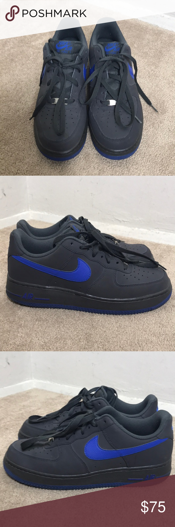 timeless design 7e8ff b183d Air Force 1 Low - Dark Grey - Royal Blue Air Force 1 Low - Dark Grey - Royal  Blue Pre-owned, Excellent Condition, Like New, Only Used Once Men size 9US  Nike ...