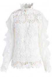 c787535981f5 Floral Museum Crochet Top in White   Weisse Blusen   Pinterest ...