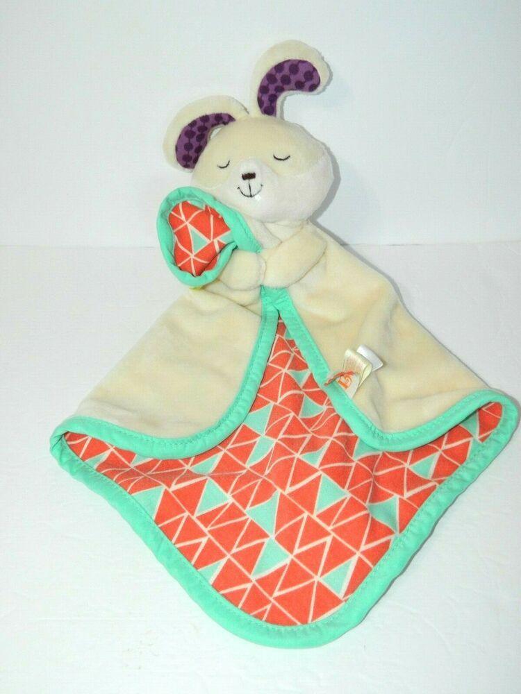 Baby B  Snugglies Fluffy Bunz Rabbit Bunny Baby Security Blanket Lovey Nunu #BBaby #securityblankets