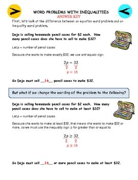 28+ Special writing inequalities from word problems worksheet Wonderful
