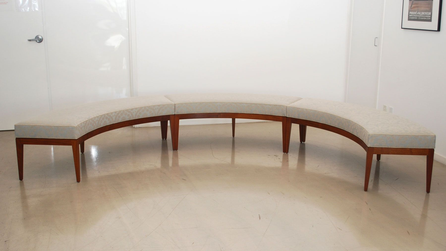 Custom curved window bench custom beds benches curved dining bench