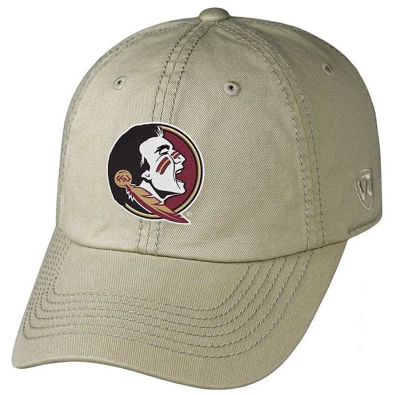 cheaper 4b7c2 44e14 Adult Top of the World Florida State Seminoles Crew Adjustable Cap,  Beig Green (Beig Khaki)
