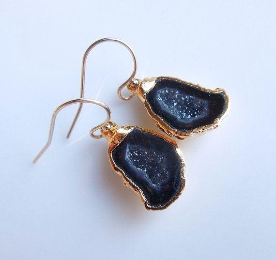 Druzy Geode Earrings!