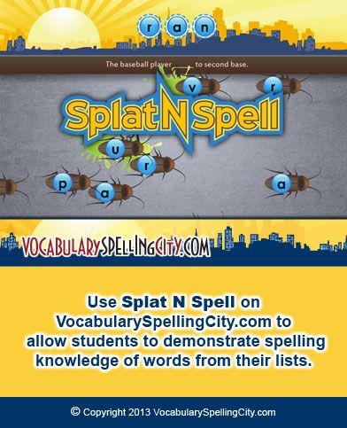 Splat N Spell Spelling Homeschool Language Arts Spelling Resources