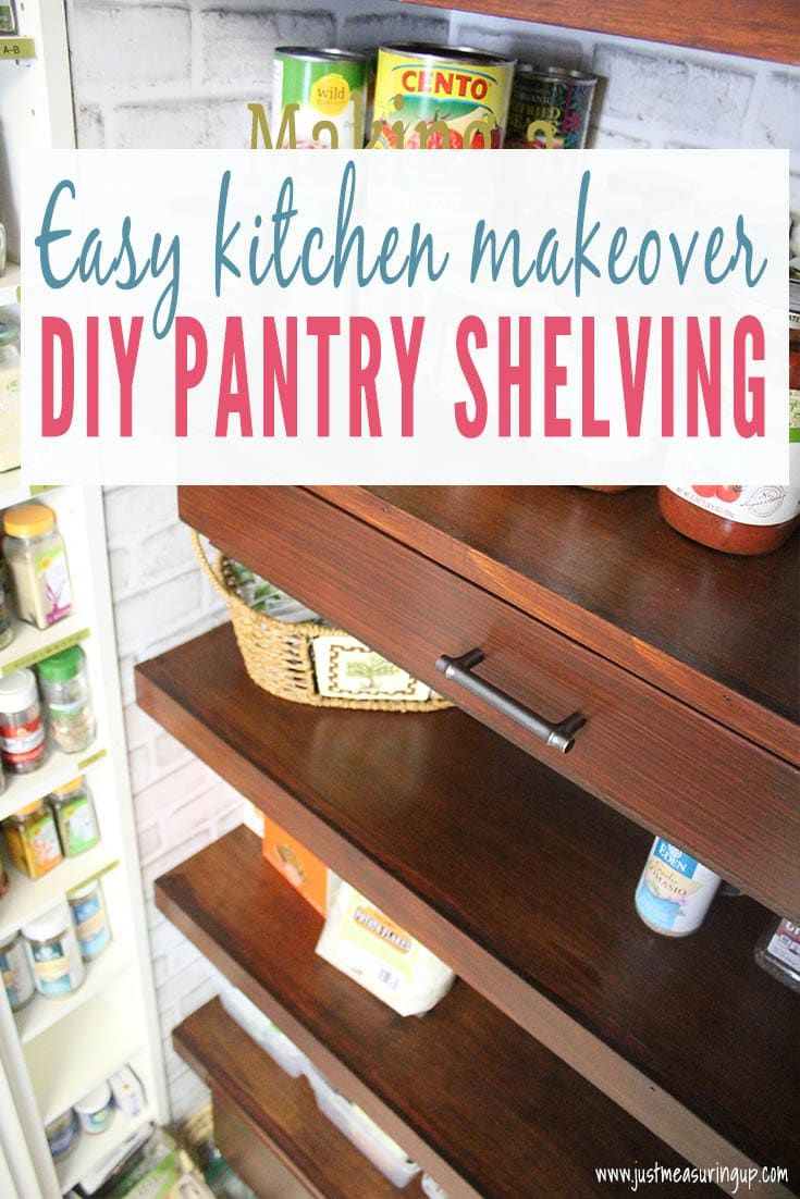 Diy built in pantry shelves with pull out drawers pantry