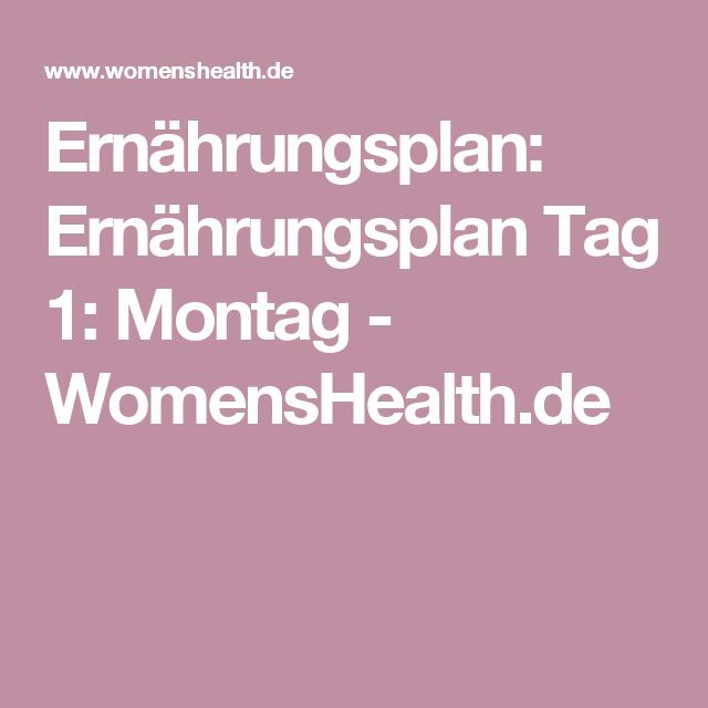 Ernährungsplan: Ernährungsplan Tag 1: Montag - WomensHealth.de