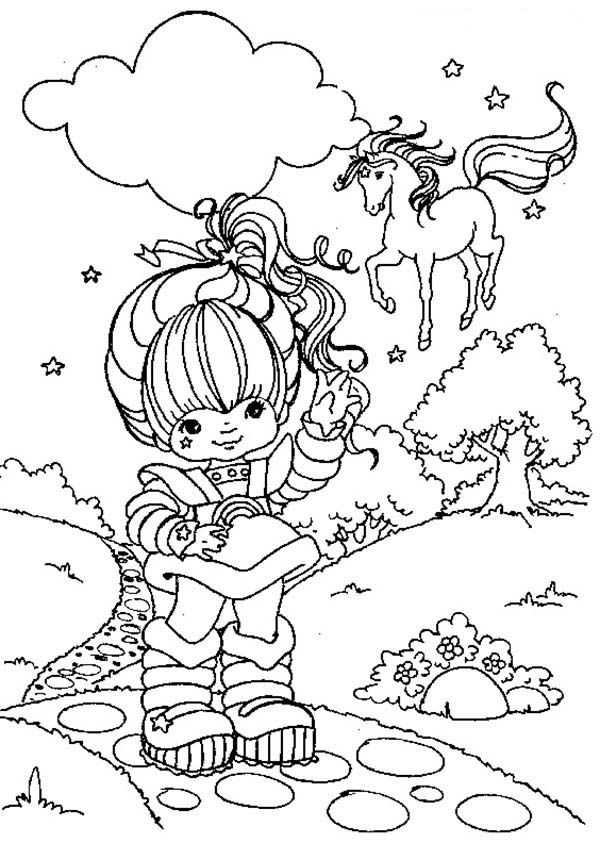 Rainbow Brite Calling Starlite Coloring Page Cartoon Coloring Pages Garden Coloring Pages Coloring Pages