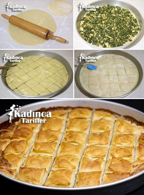 Nişastalı Ispanaklı Tepsi Böreği Tarifi, Nasıl Yapılır #pizzateig
