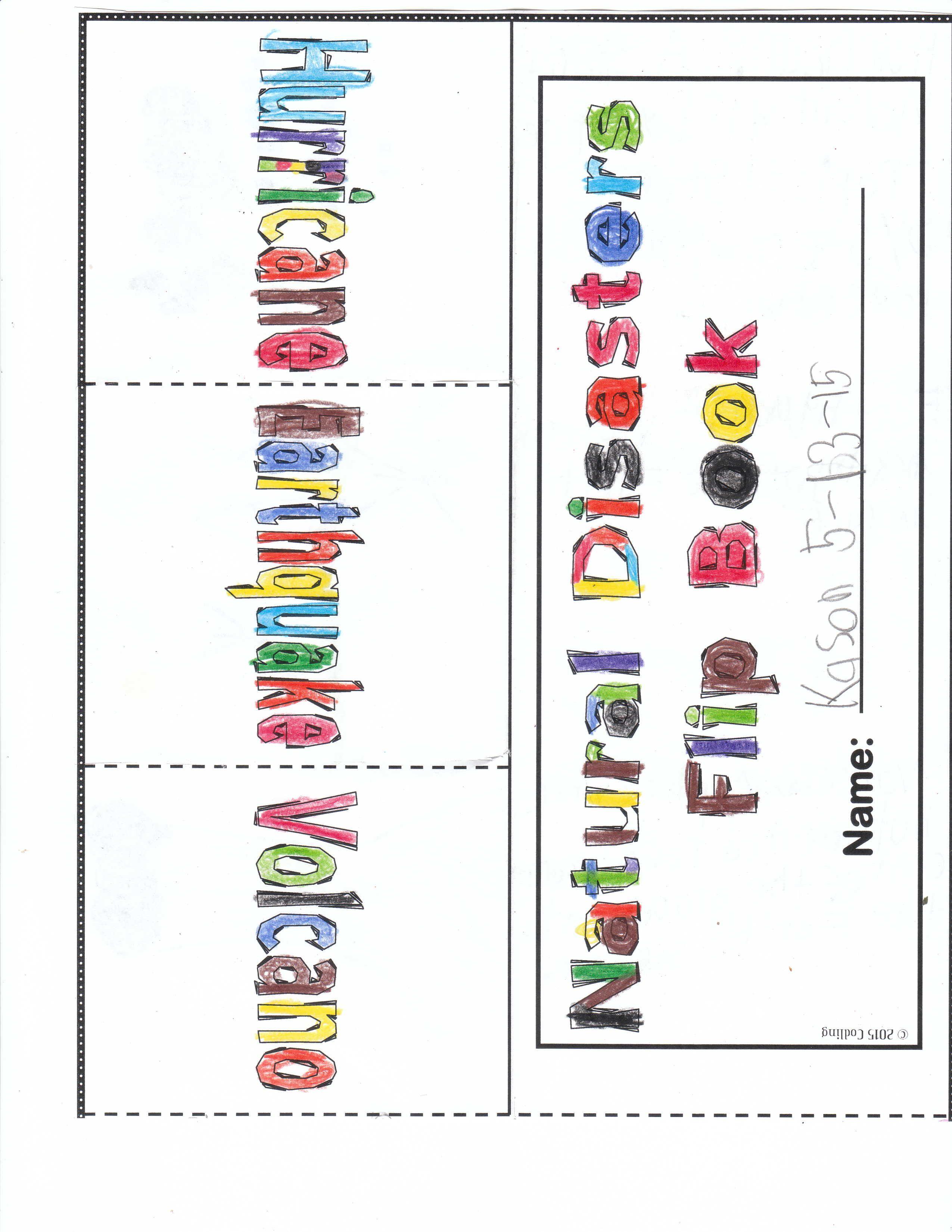 Natural Disasters Flip Book Natural Disasters Flip Book Science Lessons [ 3300 x 2550 Pixel ]