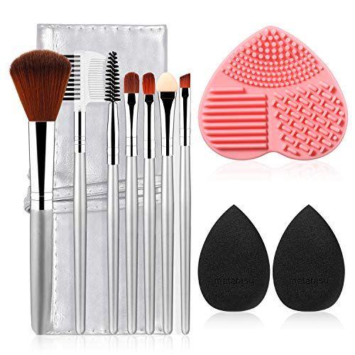 Photo of 7+2+1+1pcs materasu Original Makeup Brush Set, Synthetic Foundation Face Powder Blush Eyeshadow Brushes Makeup Brush Kit with Makeup Purse/Blender Spo