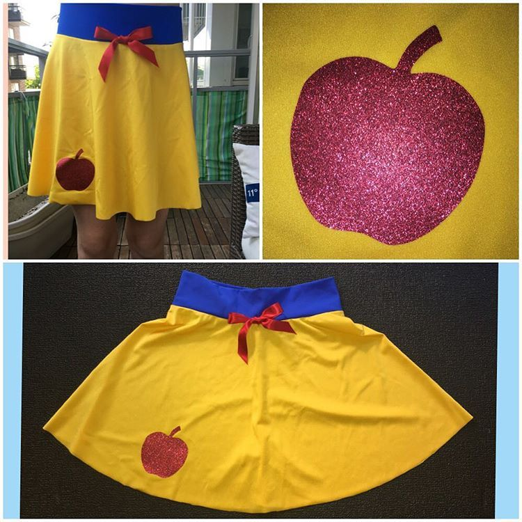 Snow white inspired running skirt by Mimmis Magical Designs FB page