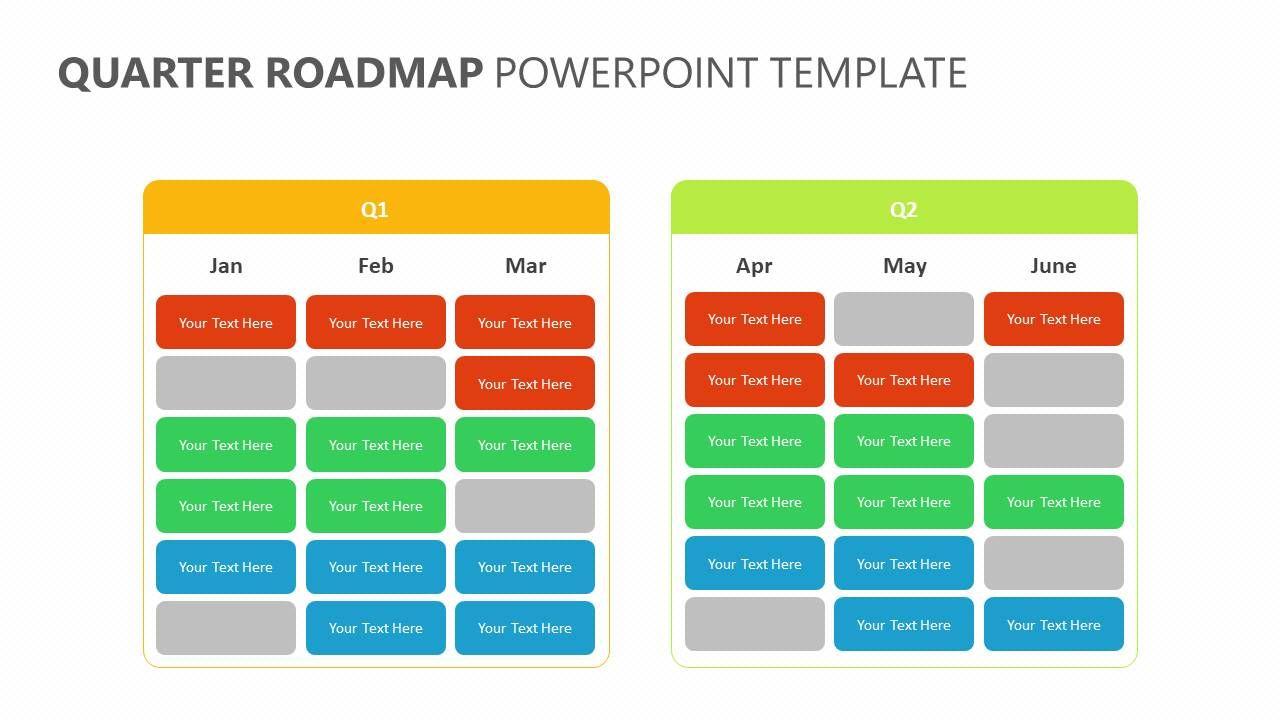 Quarter Roadmap PowerPoint Template Powerpoint templates