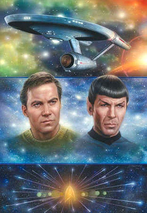 "Star Trek Legacy Cross Stitch Pattern***L@@K***YOUR FINISHED PATTERN SIZE. 196 Stitches x 280 Stitches 14.0"" X 20.0"" ON (14 COUNT) AIDA CLOTH. ~~ I SEND WORLD-WIDE ~~Free"