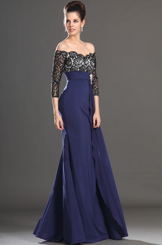 Vestidos de gala azul noche