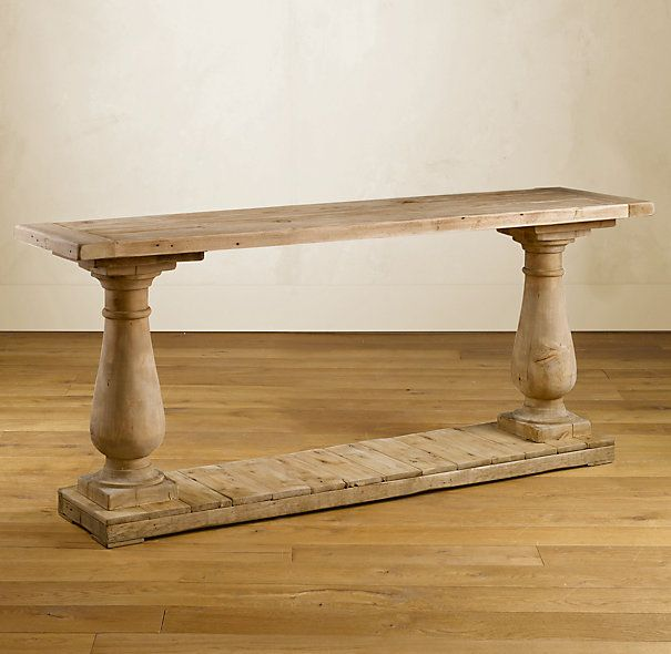 Balustrade Salvaged Wood Console Table Wood Console Wood