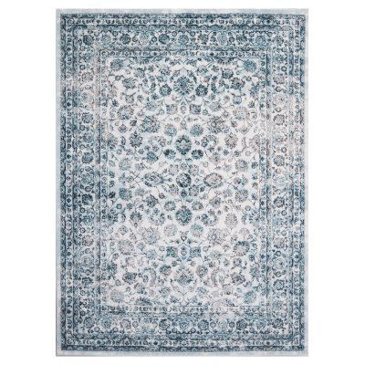 Home Dynamix Denim 1101 Indoor Area Rug Ivory - 1-1101-100, Durable
