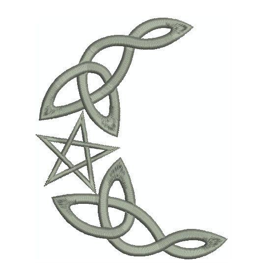 Celtic Crescent Moon Designs Machine embroidery design ...