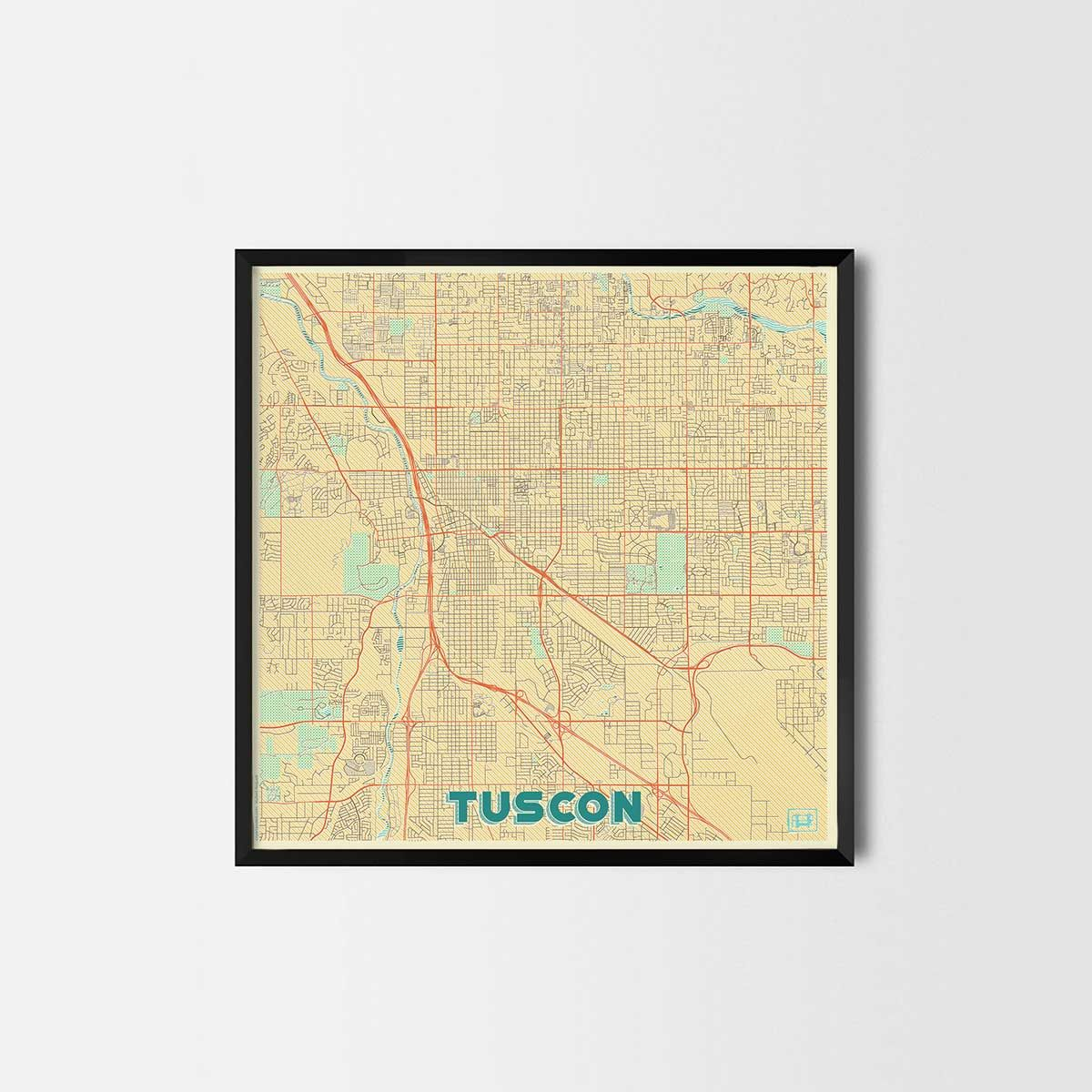 Tuscon City Prints - City Art Posters and Map Prints | City