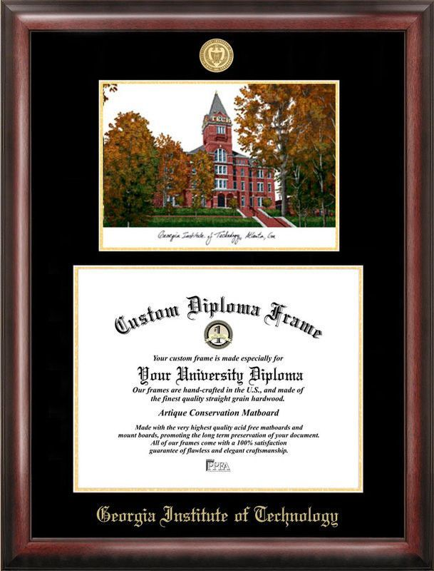 Georgia Institute of Technology Gold embossed diploma frame with ...
