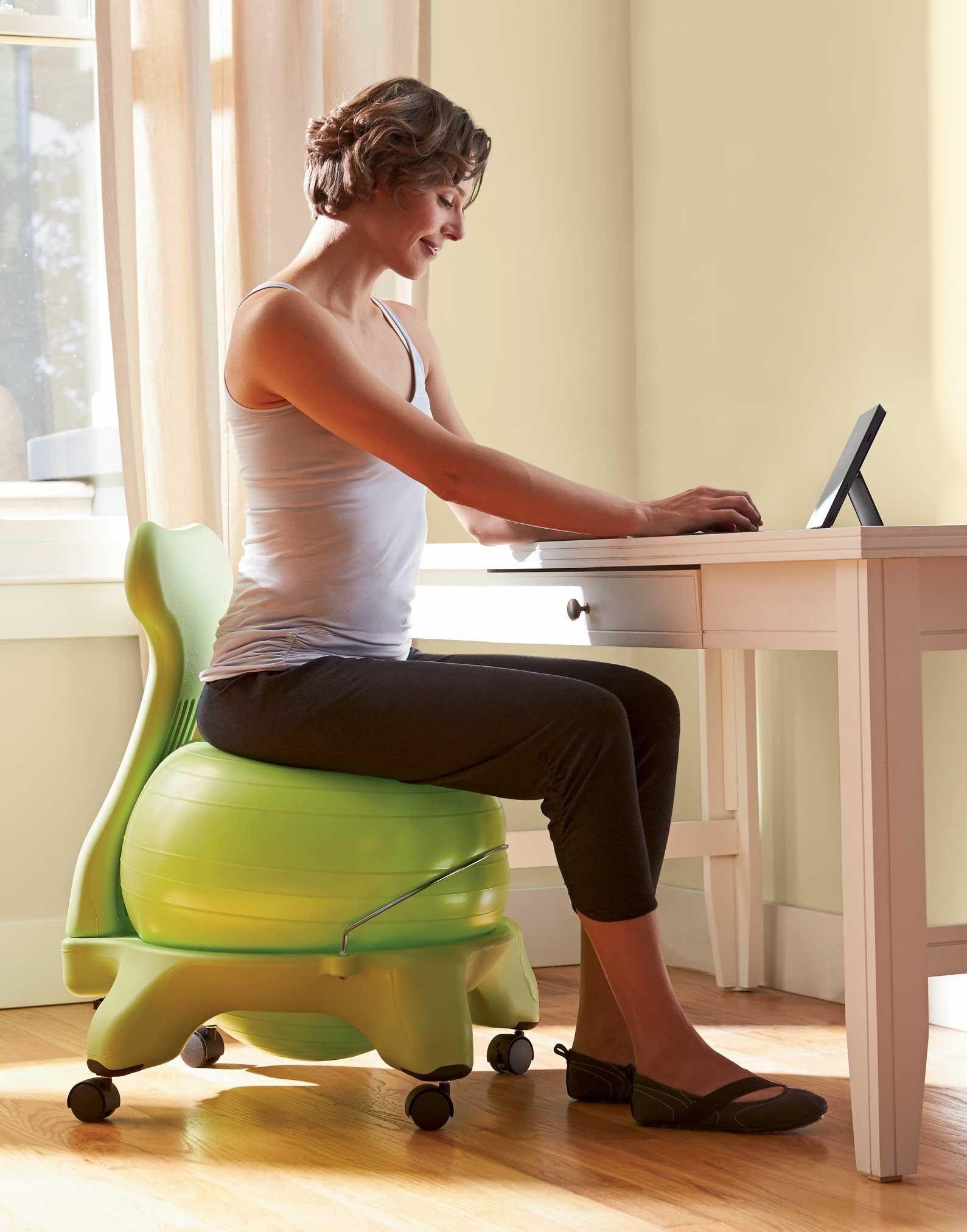 Gaiam Balance Ball Chair Exercises Black Plastic Rail Amazon Com Exercise Balls Sports Outdoors