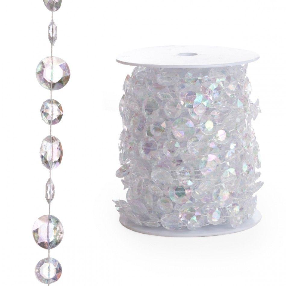 Beads By The Roll - Iridescent Diamond Cut (66 Feet) BEST SELLER ...