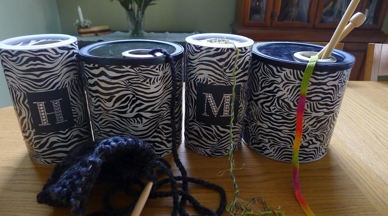 Coffee can yarn holder #diyyarnholder