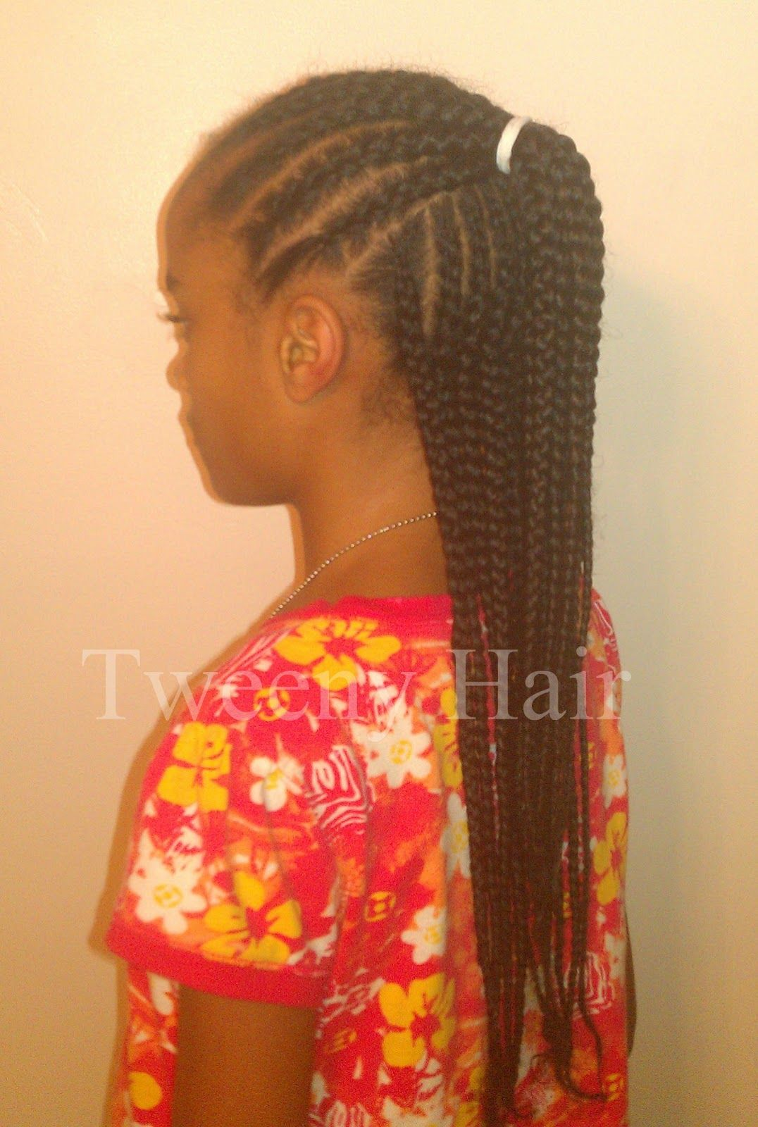 Simple Cornrow Style Half Up Kids Hairstyles Natural