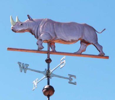 Rhinoceros Weathervane Customization Available Weather Vanes Weathervanes West Coast Weather