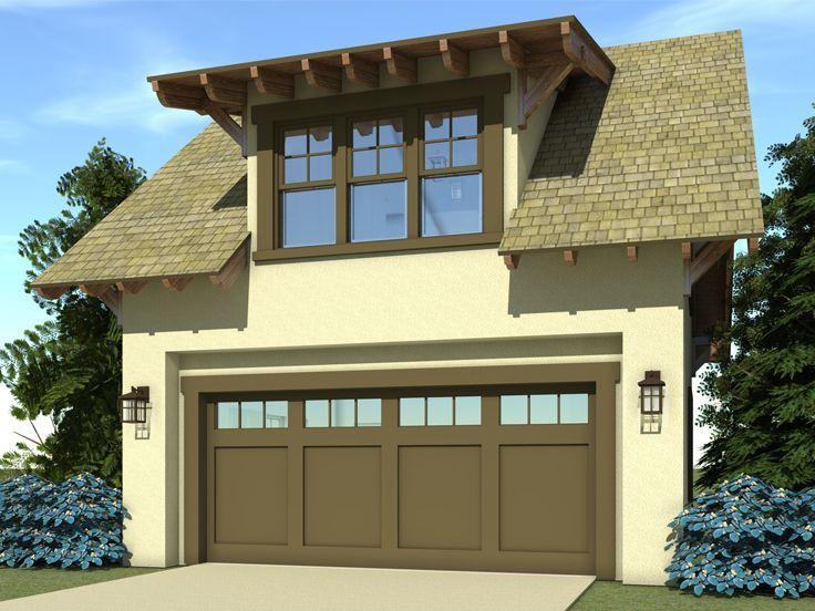 052G0001 CraftsmanStyle 2Car Garage Plan with Loft