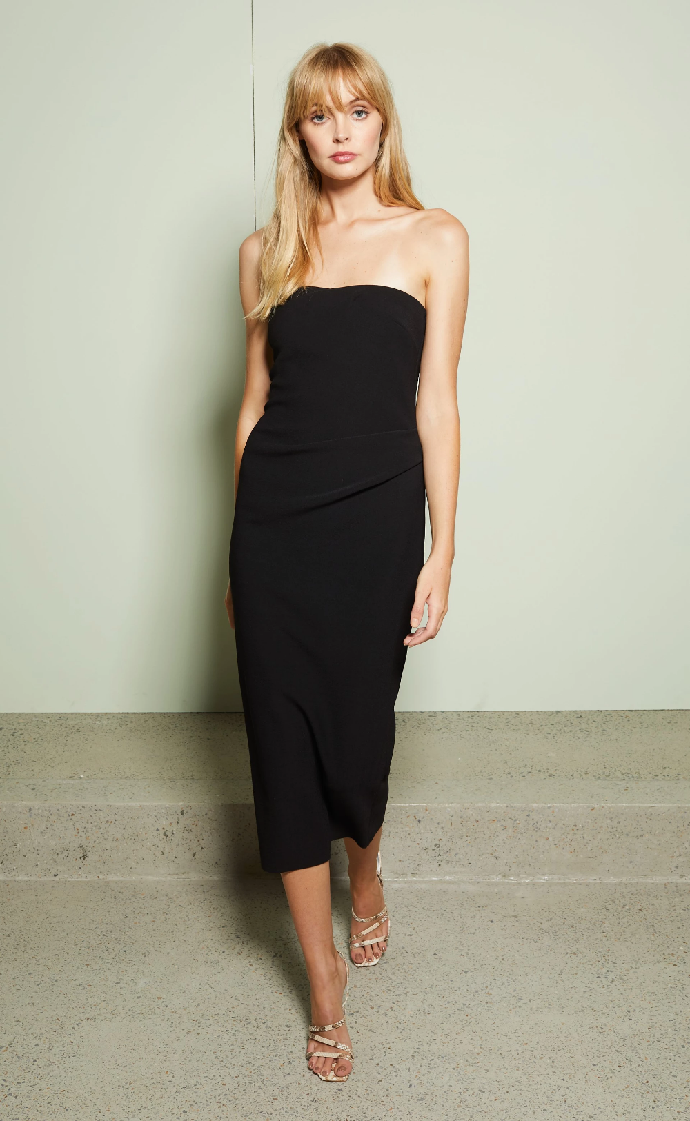 Elke Strapless Midi Dress Black Bec Bridge Black Midi Dress Midi Dress Dresses [ 1625 x 1000 Pixel ]