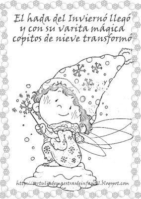 Mi Mundo Infantil Carteles De Invierno Hada Del Invierno Dibujos De Invierno Manualidades Invierno