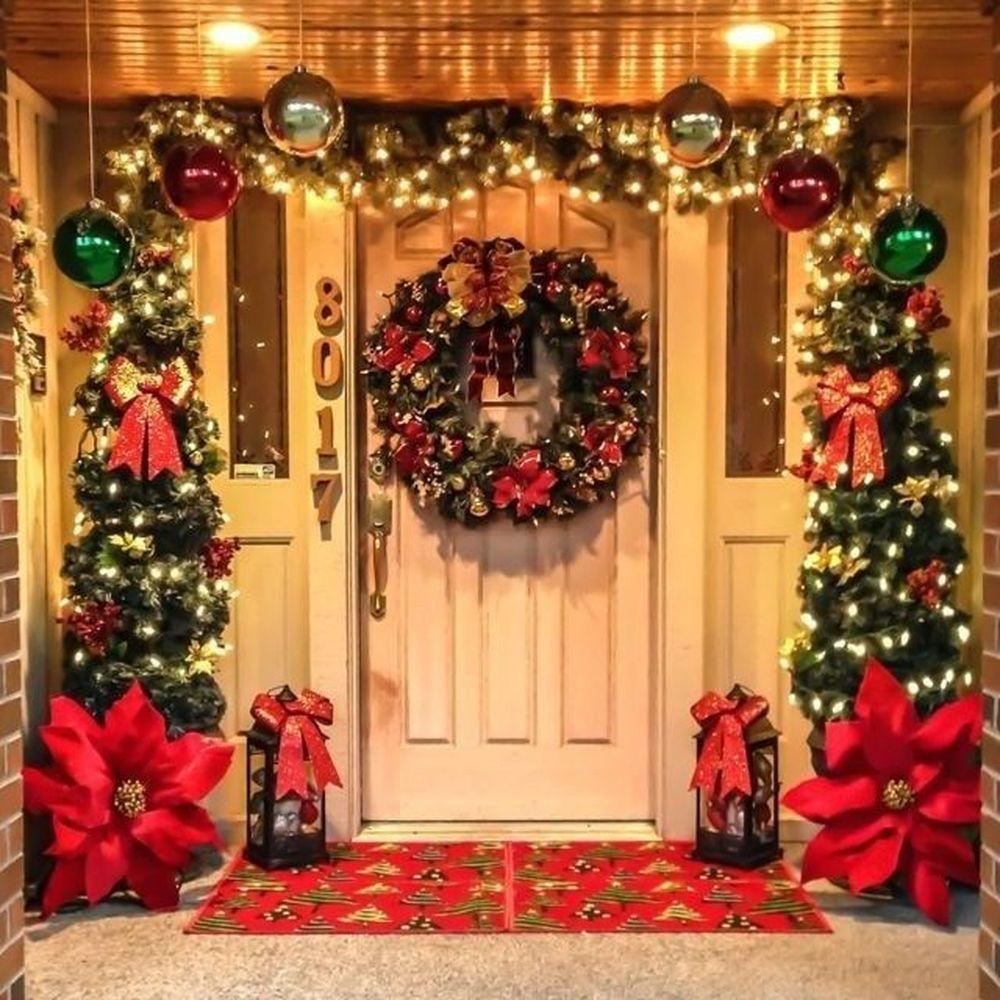 23 Trending Winter Diy Ideas For The Front Door Porch Christmas Tree Diy Christmas Garland Classy Christmas Decor