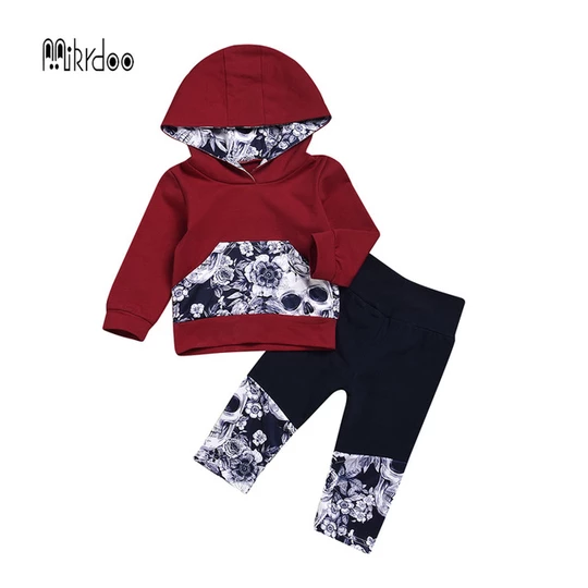 Kids Toddler Boy Girls Long Sleeve Cotton Stripes Hoodies Top Elastic Pants Outfit Clothes Set
