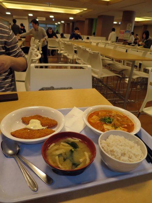 Kyoto Uni. and had lunch at their gakushoku.