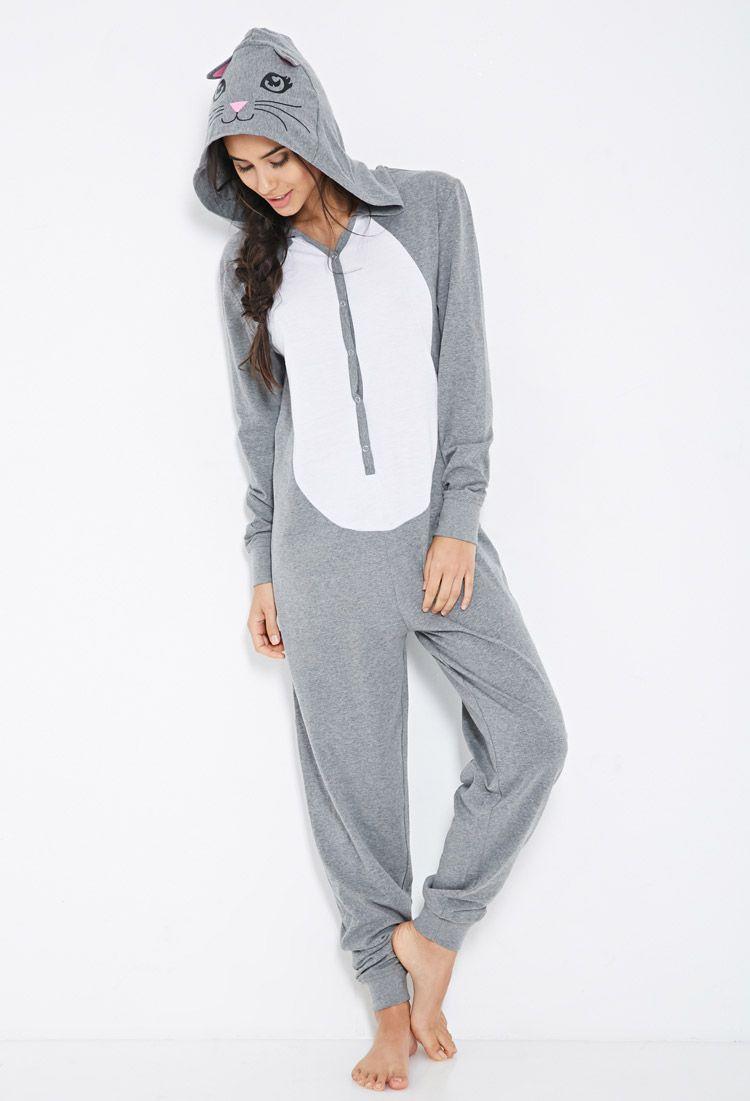 Cats Gray Pajamas Pants for Women