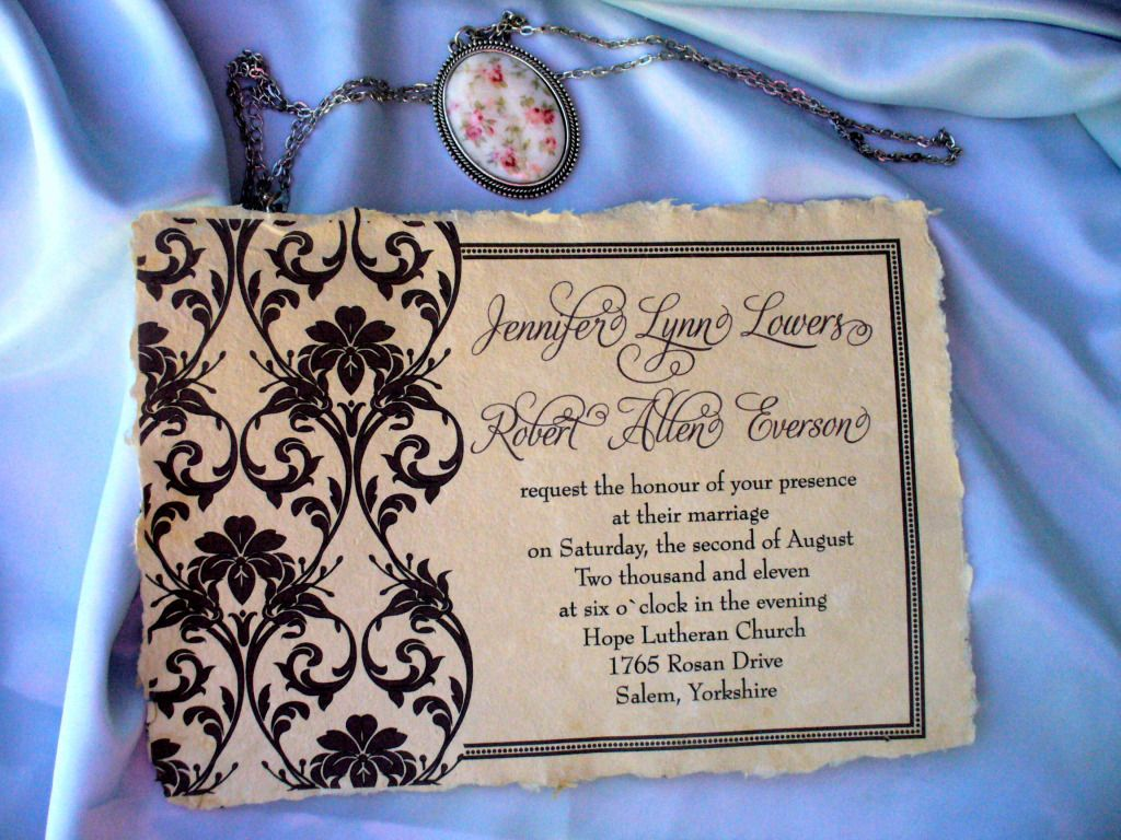 Handmade engagement invitations personalised wedding invitation handmade engagement invitations personalised wedding invitation on natural handmade parchment paper monicamarmolfo Choice Image