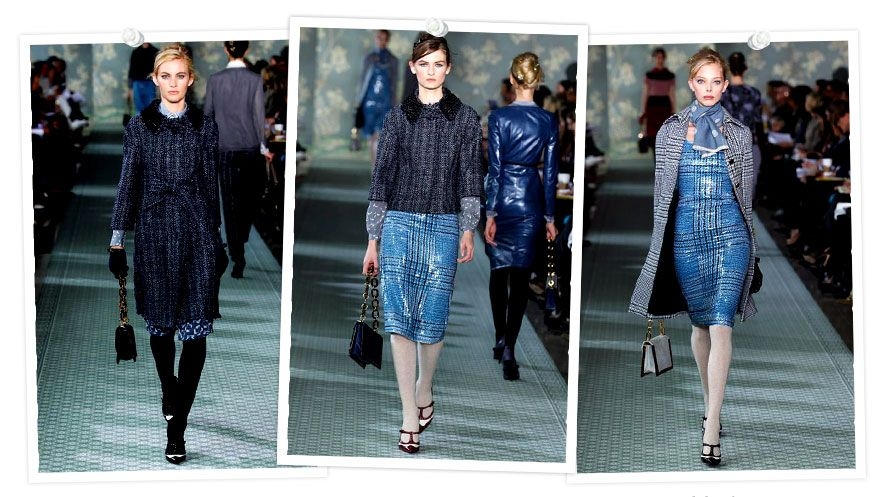 Tory Burch - fall 2012 - blues