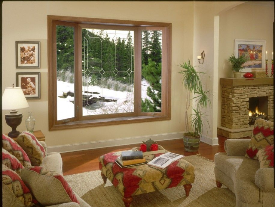Fantastic Brown Wooden Bay Windows Design with a cozy room. Plus ...
