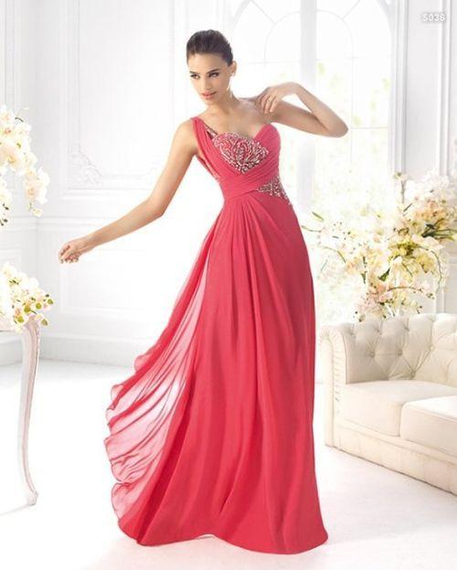 vestido-de-boda-color-coral | vestidos en 2019 | pinterest