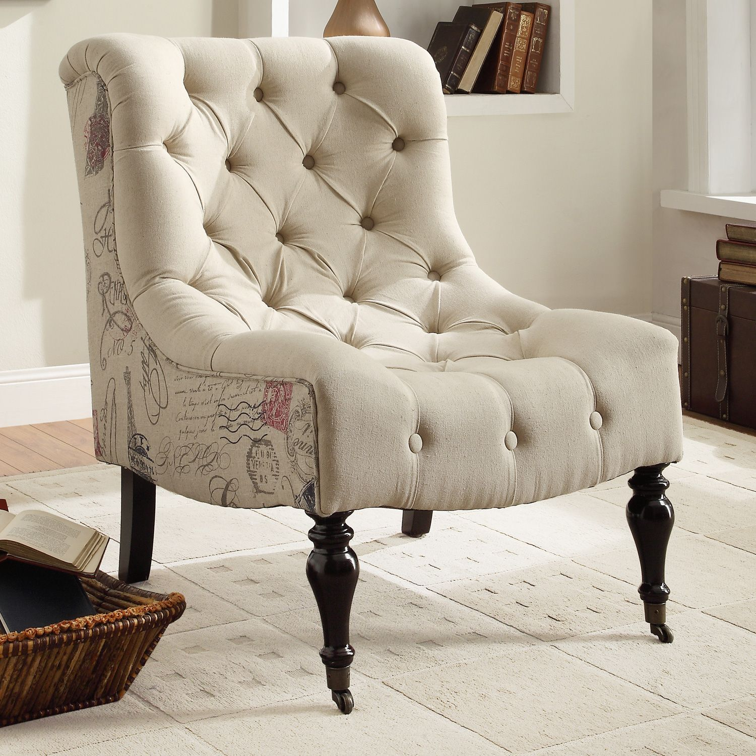 Tufted Accent Chairs Slim Reclining Anya Chair 199 I Think This Is The One Regina Was Telling Me About