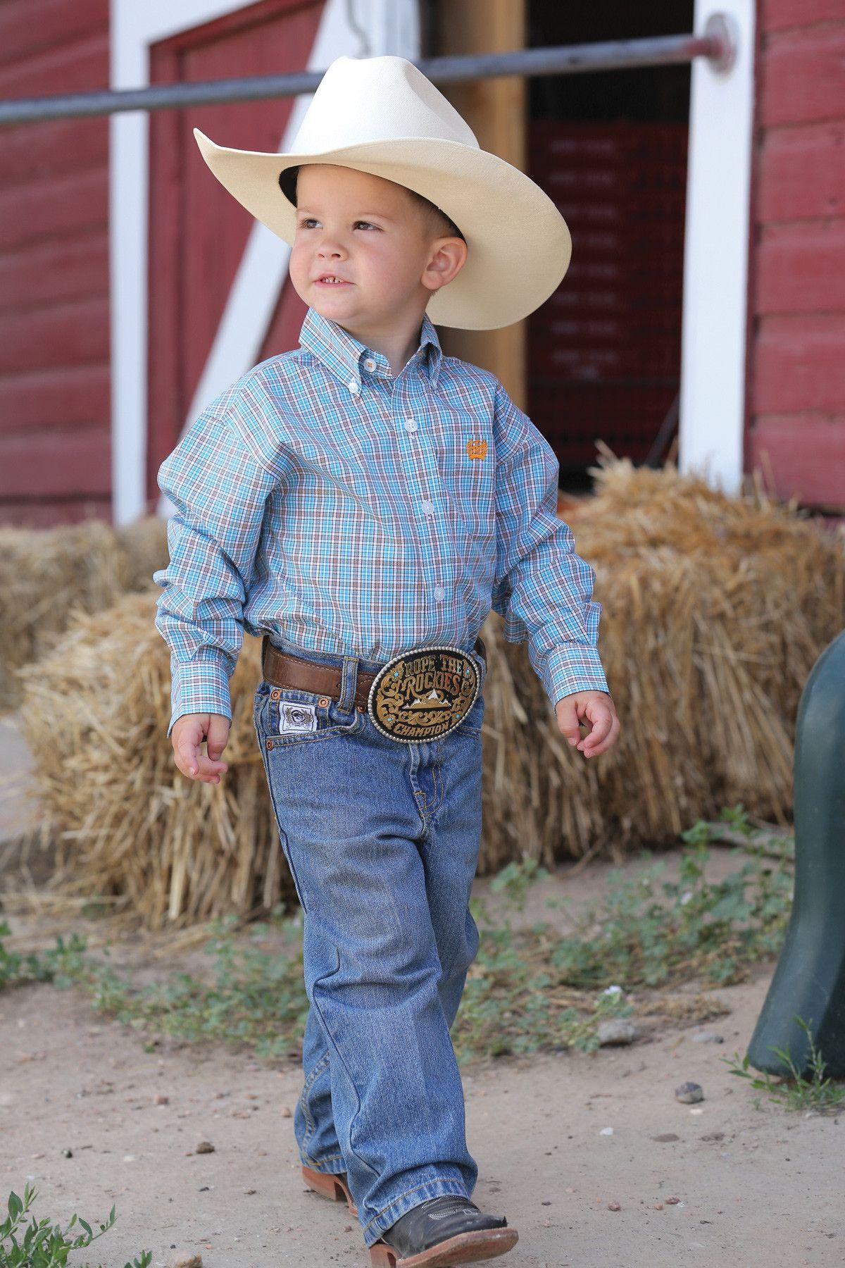 Cinch Long Sleeve Button Down Shirt Baby boy clothes