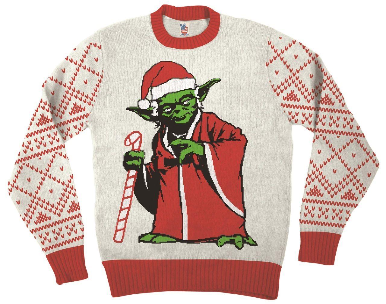 b5ea4eedea1e Star Wars Jedi Yoda Dressed As Santa Ugly Christmas Sweater ...