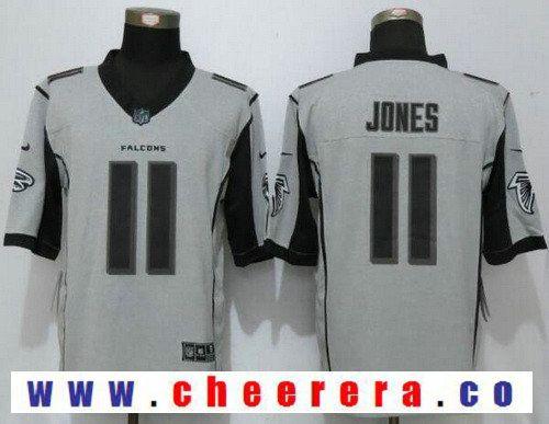 d9acc55b185 Men's Atlanta Falcons #11 Julio Jones Gray Gridiron II Stitched NFL Nike Limited  Jersey