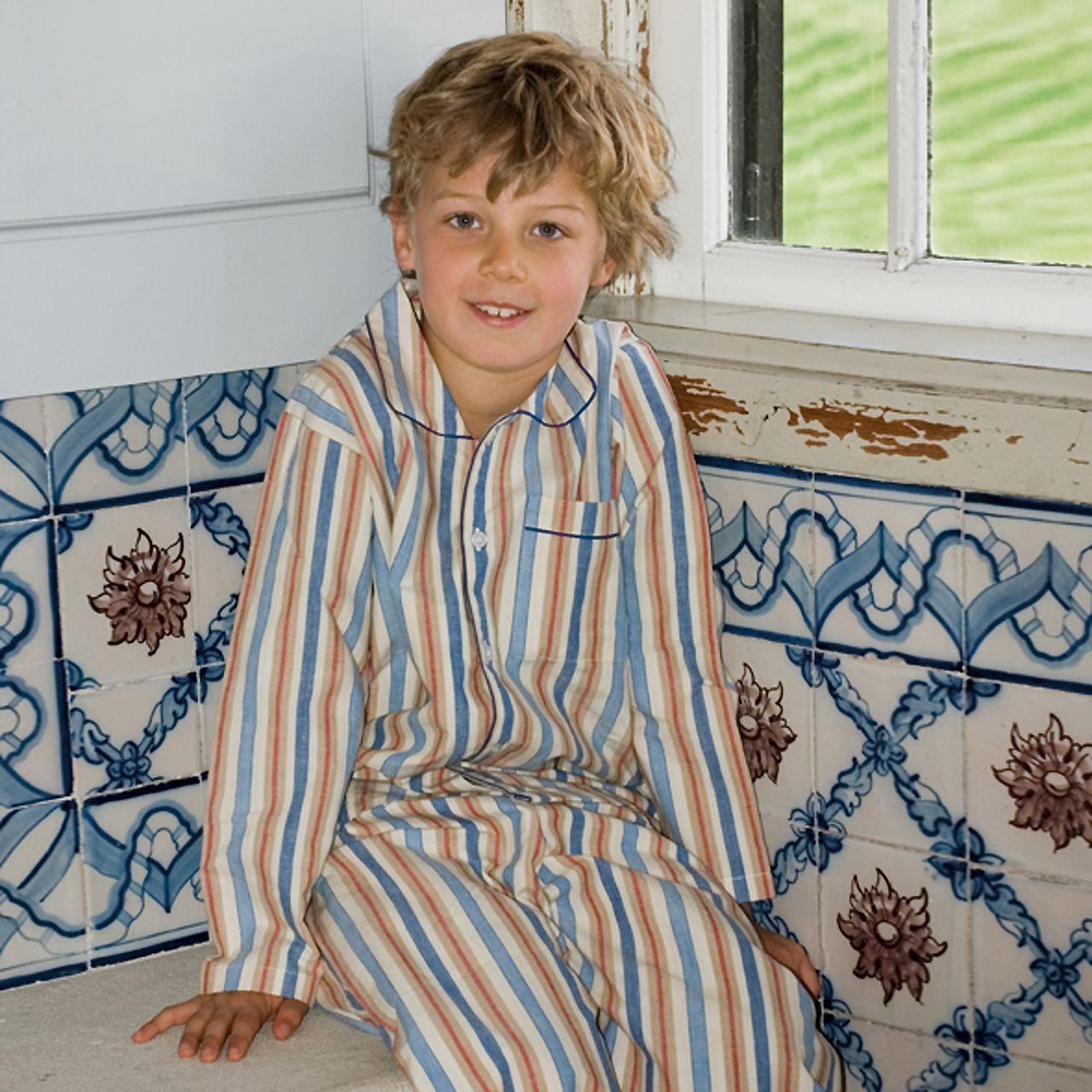 Hampton blues stripes boys pjs - great colours, beautiful quality ...