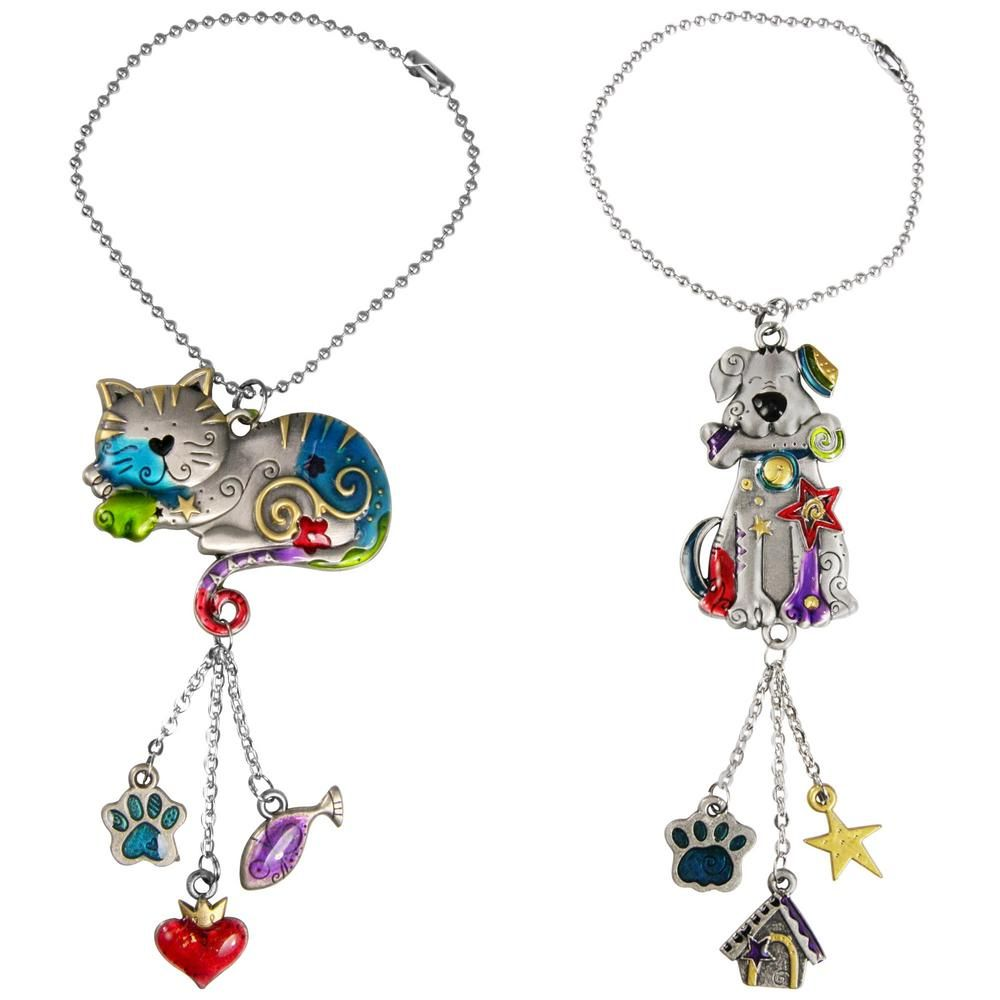 Kitty & Dog Car Charm #animalrescue